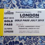 2015 London Film and Comic Con Gold Pass