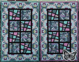 Magic Tiles Zwillings-Quilt klein